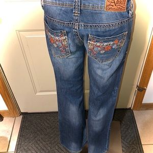 Adiktd bootcut floral embroidered jeans 28x33 / 4